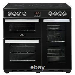 Belling Cookcentre 90E 90cm Electric Range Cooker with Ceramic Hob Black
