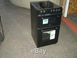 Belling FS50EDOC 50cm Double Oven Electric Cooker With Ceramic Hob Black BLACK