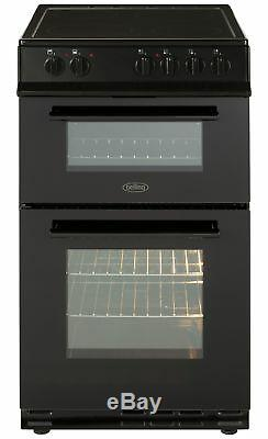 Belling FS50EDOFC Free Standing 50cm 4 Hob Double Electric Cooker Black