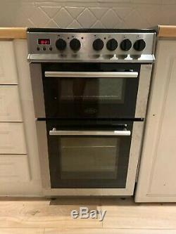 Belling FS50EDOPC 50cm Electric Ceramic Hob and Double Oven