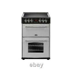 Belling Farmhouse 60E 60cm Double Oven Electric Cooker With Ceramic Hob Silver