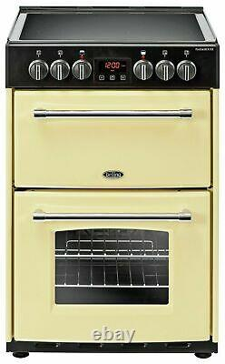 Belling Farmhouse 60E Free Standing 60cm 4 Hob Double Electric Cooker Cream
