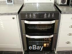Belling Free-standing Electric Cooker, black and brushed chrome, ceramic hob