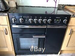 Black Rangemaster Professional Plus 90 Electric Cooker With Ceramic Hob
