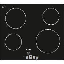 Bosch Classixx PKE611D17E Built In 60cm Black 4 Zone Quick-Therm Ceramic Hob