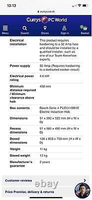 Bosch Series 4 PUE611BB1E 60cm Electric Induction Hob Black