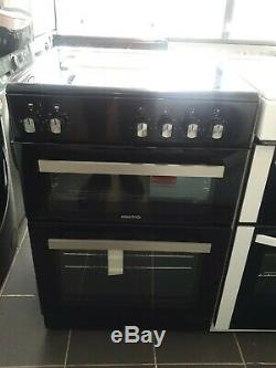 Brand new electriQ 60cm Electric Cooker with TwinCavity and Ceramic Hob in Black