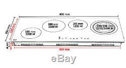 Built-In Electric Hob Ceramic Glass 4 Zone Cooker Timer Touch Scraper 6400W CH90