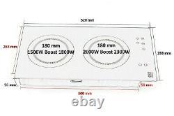 Built-In Induction Electric Hob 2 Zone Booster Cooker Sensor Scraper 3500W IH-3B