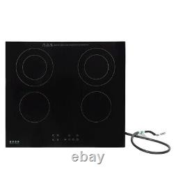 Built-in Ceramic Hob 4 Zones Electric Cooker Stove Cooktop Touch Control Timing