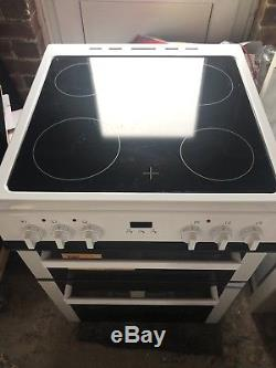 Bush BLC60DBL 59.5cm 4 Hob Double Electric Cooker White Install & Recycle
