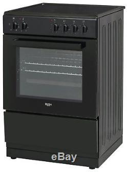 Bush BS60ELB Free Standing 59.5cm 4 Hob Single Electric Cooker Black. Argos