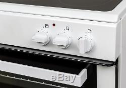 Bush BT60ELW Free Standing 59.5cm 4 Hob Single Electric Cooker White. Argos