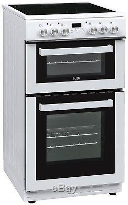 Bush DHBFEDC50W Electric Cooker Ceramic Hob 4 Vitroceramic Zones White
