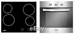 Bush LSBCHP Built In Electric Oven with Ceramic Hob Stainless Steel