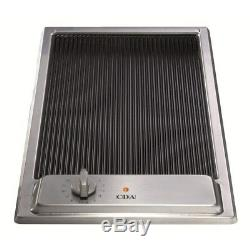CDA HCC310SS Stainless Steel 29cm Domino Front Control Ceramic Griddle