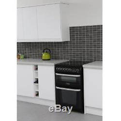 Cannon CH60EKKS 60cm Electric Cooker with Double Ovens & Ceramic Hob Black