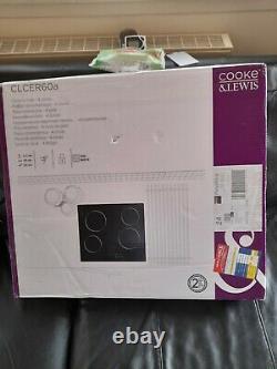 Cooke & Lewis CLCER60A 4 Zone Black Glass Ceramic Ceramic hob, (W)590mm