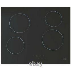Cooke & Lewis Clcer60a Ceramic Hob Black 52 X 590mm