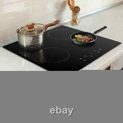 Cookology 59cm Ceramic Hob in Black, Built-in worktop & Touch Controls