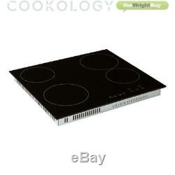 Cookology 60cm Black Built-in Single Electric Fan Oven & Ceramic Hob Pack