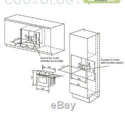 Cookology 60cm Black Electric Built-in Digital Fan Oven & Gas-on-Glass Hob Pack