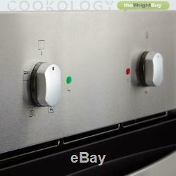 Cookology 60cm Built-in Single Electric Fan Oven, Ceramic Hob & Hood Pack