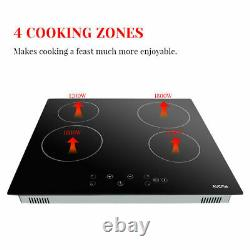Cookology 60cm Electric Ceramic Hob in Black, &Touch Controls AUCMA
