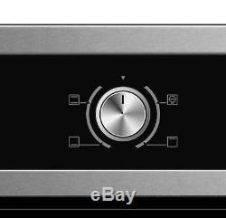 Cookology 60cm Electric Static Oven, Knob Control Ceramic Hob & Curved Hood Pack
