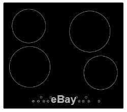 Cookology Black Double Oven & Hob Pack, 60cm Built-under Double Oven, Ceramic Ho