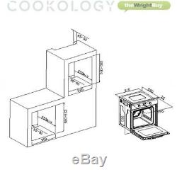 Cookology Black Single Electric Fan Oven, 60cm Gas on Glass Hob & Chimney Pack