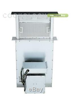 Cookology CET600 Ceramic Hob & 60cm CDD600BK Downdraft Extractor Fan Pack