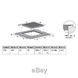 Cookology CIB605 Bridge Zone Induction Hob 60cm, Black, Built-in
