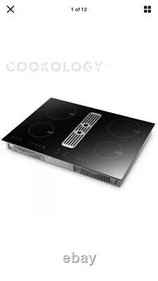 Cookology CIHDD700 70cm Induction Hob with Built-in Downdraft Extractor Fan