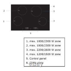 Cookology CIT770 77cm Induction Hob, slider controls & timer, fits 74x49cm niche