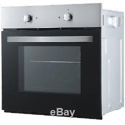 Cookology Fan Forced Oven, 60cm Knob Control Ceramic Hob & Chimney Hood Pack