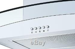 Cookology White Electric Fan Forced Oven, Ceramic Hob & 60cm Cooker Hood Pack