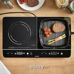 Double Digital Touch Induction Hob Portable Twin Electric Hot Plate Cooker 2500W