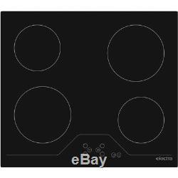Electra BICH4B 59cm 4 Burners Ceramic Hob Touch Control Black