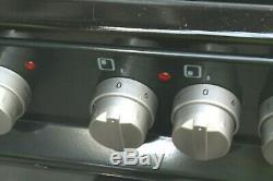 Electra PFSDOV5B 50cm Freestanding Electric Black Cooker with Ceramic Hob