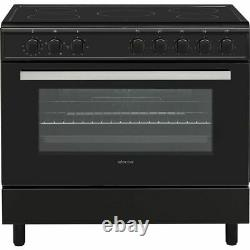 Electra SCR90B 90cm Electric Range Cooker with Ceramic Hob Black A Rated