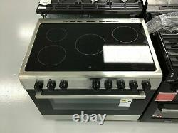 Electra SCR90SS 90cm Electric Range Cooker Ceramic Hob S/Steel A Rated #264290