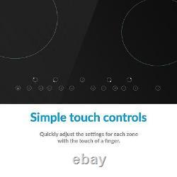 ElectriQ 60cm 4 Zone Ceramic Hob with Touch Control