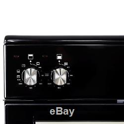 ElectriQ 60cm Electric Cooker with Double Oven and Ceramic Hob in Black EQEC60B5
