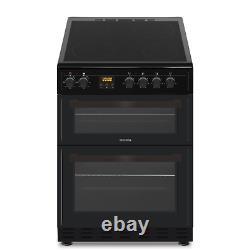 ElectriQ 60cm Twin Cavity Electric Cooker with Ceramic Hob Black