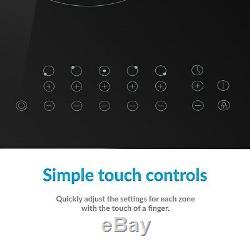 ElectriQ 77cm 5 Zone Touch Control Ceramic Hob eiQC77