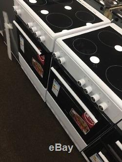 ElectriQ EQEC60W5 60cm Electric Cooker with Double Oven and Ceramic Hob White
