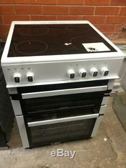 ElectriQ EQEC60W5 Electric Cooker with Double Oven and Ceramic Hob in White 60cm