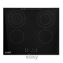 Electric Ceramic Hob Touch Control 4 Zone 60cm Satin Glass Kitchen Cooker UK