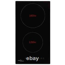 Electric Ceramic Hob with 2 Burners Cooking Zone Touch Control 3000W Built-in